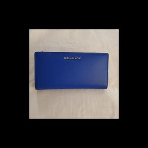 NWT: MK Large Saffiano Leather Slim Wallet
